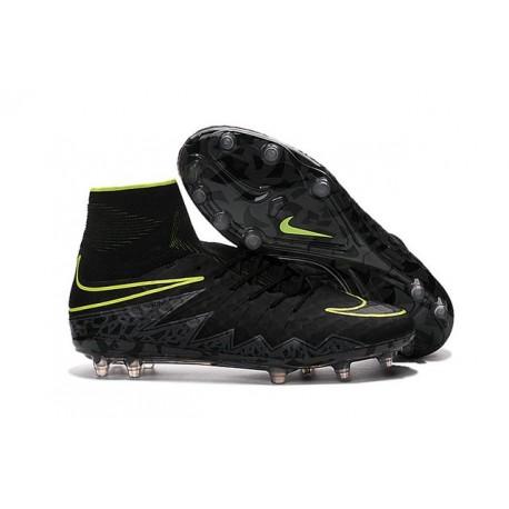 Nike HyperVenom Phantom II FG Football Crampons Noir Volt