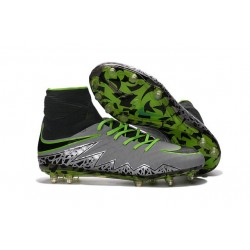 2016 Crampons Nike HyperVenom Phantom II FG Football Platine Noir Vert