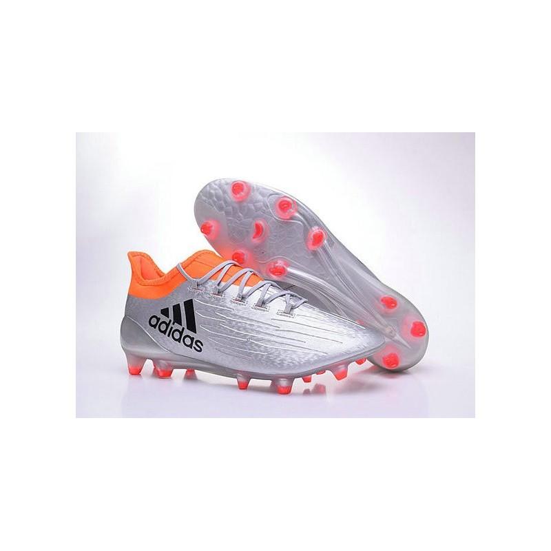 the latest 67622 d9cfd de Chaussures football Argent X Rouge Adidas AGFG Noir Nouvelles 16 1  qT6ZRUT