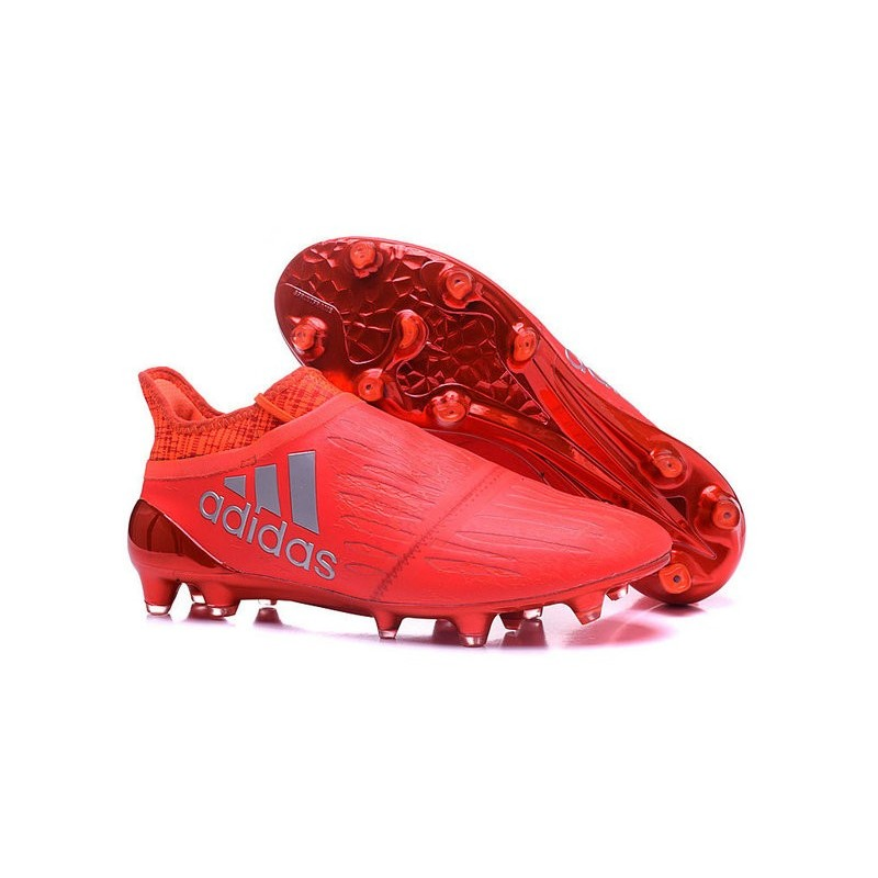 low priced 84c22 977a7 Adidas X 16+ Purechaos FGAG - Crampons foot Pour Homme Argen