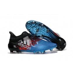 Adidas X 16+ Purechaos FG/AG - Crampons foot Pour Homme Bleu Noir Rouge Blanc