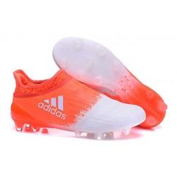 Adidas X 16+ Purechaos FG/AG - Crampons foot Pour Homme Blanc Orange