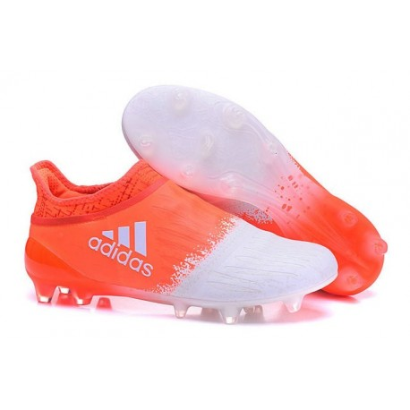 super popular 53be7 8f3ad Adidas X 16+ Purechaos FGAG - Crampons foot Pour Homme Blanc