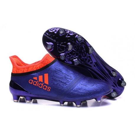 Nouveau Chaussures de footabll Adidas X 16+ Purechaos FG/AG Violet Orange