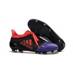 Nouveau Chaussures de footabll Adidas X 16+ Purechaos FG/AG Noir Violet Orange