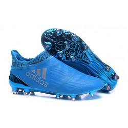 Nouveau Chaussures de footabll Adidas X 16+ Purechaos FG/AG Argenté Bleu