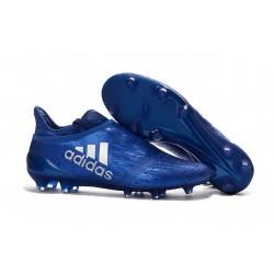 2016 Chaussures de football Adidas X 16+ Purechaos FG/AG Bleu Argenté