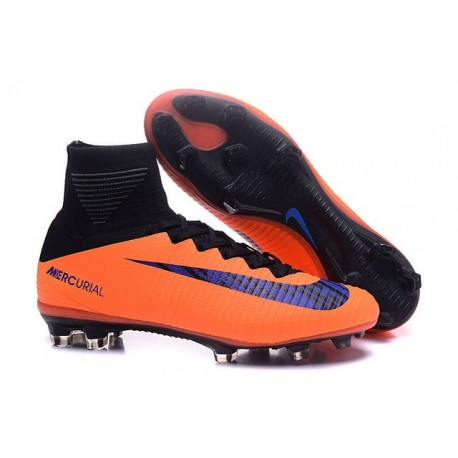 taille 40 09d5b d442e Chaussures de football Nike Mercurial Superfly 5 FG Pas Cher Orange Noir  Violet