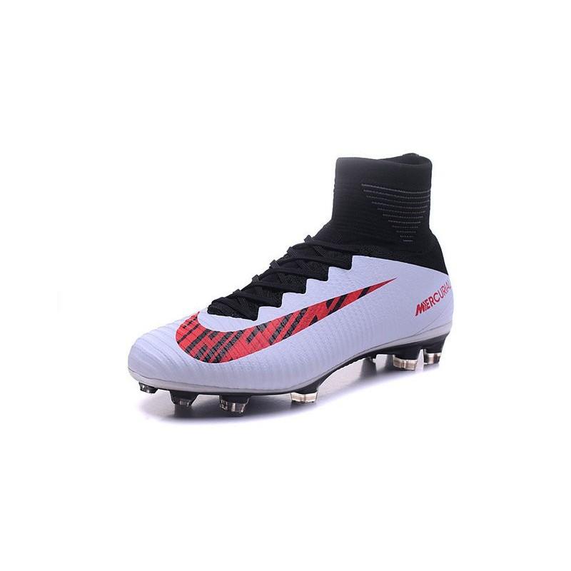 chaussures de football nike mercurial superfly 5 fg pas cher noir blanc rouge. Black Bedroom Furniture Sets. Home Design Ideas