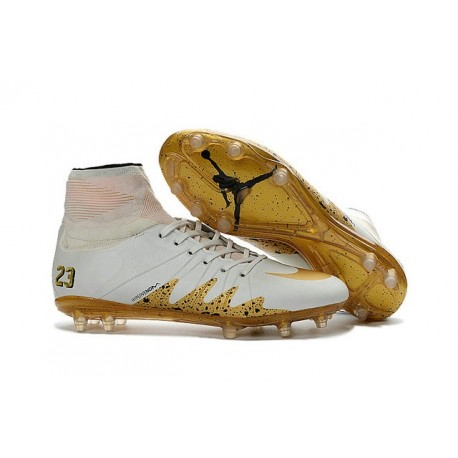 2016 Crampons Nike HyperVenom Phantom II FG Football Neymar x Jordan Blanc Or
