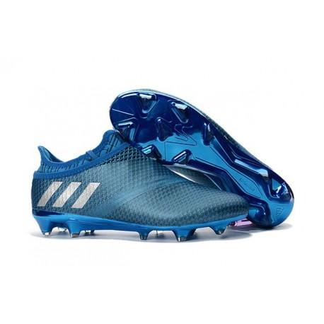 2016 Crampons Adidas Messi 16+ Pureagility FG/AG Bleu Argent Noir