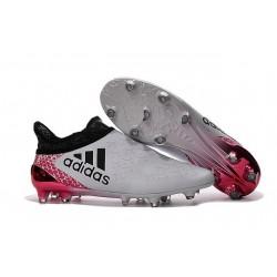 Nouveau Chaussures de footabll Adidas X 16+ Purechaos FG/AG Blanc Noir Rouge
