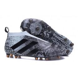 Nouveau Chaussures de Football Adidas Ace16+ Purecontrol FG/AG Vert Noir