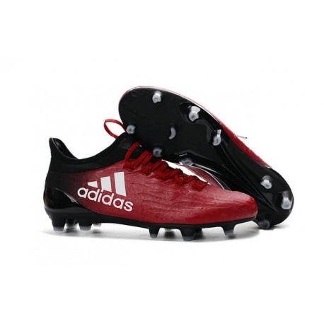 Adidas X 16.1 AG/FG - Nouveau Crampons football Rouge Blanc Noir