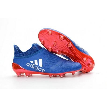 Adidas X 16+ Purechaos FG/AG - Crampons foot Pour Homme Bleu Orange Argent