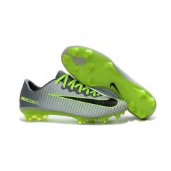 Chaussures de Football 2016 - Nike Mercurial Vapor 11 FG Platine Noir Vert