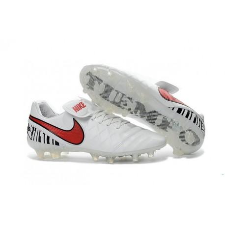 Chaussures Nike Tiempo Legend 6 FG Pas Cher Blanc Rouge