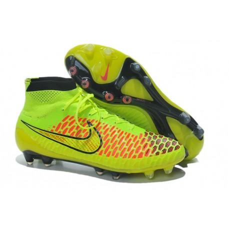 Nouvelle Crampons Nike Magista Obra FG Hommes Jaune Volt Vert