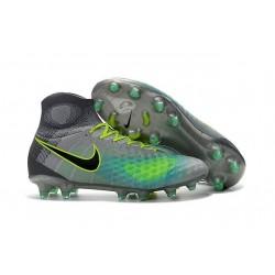 Chaussures de football pour Hommes Nike Magista Obra II FG Platine Noir Vert