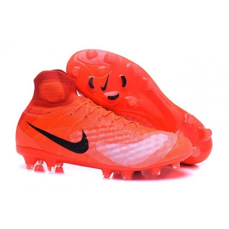 low priced 40a79 11b97 Chaussures de football pour Hommes Nike Magista Obra II FG Orange Noir