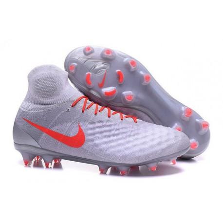 Chaussures de football pour Hommes Nike Magista Obra II FG Gris Orange