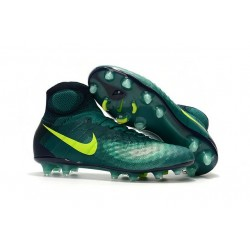 Chaussures de football pour Hommes Nike Magista Obra II FG Turquoise Rio Volt Obsidienne Jade