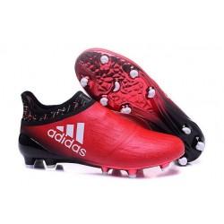 Adidas X 16+ Purechaos FG/AG - Crampons foot Pour Homme Rouge Blanc Noir