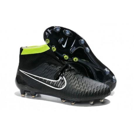 2014 Chaussure de Football Nike Magista Obra FG Noir Blanc Vert