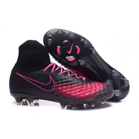 Nike Magista Obra II FG Football Crampons Noir Rose