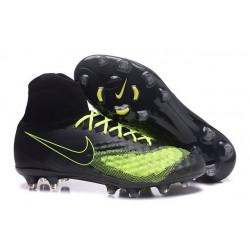 2016 Crampons Nike Magista Obra II FG Football Noir Volt