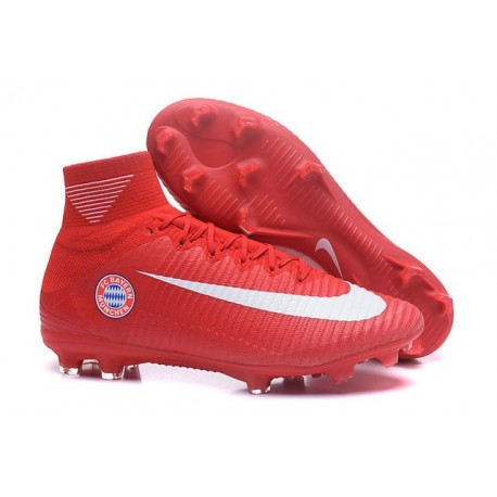 the latest b146e d1149 Nouvelles Crampons Nike Mercurial Superfly 5 FG FC Bayern München Rouge  Blanc