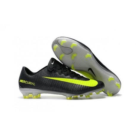 Chaussures de Football 2017 - Nike Mercurial Vapor 11 FG CR7 Algue Volt Hasta Blanc