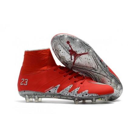 Nike HyperVenom Phantom II FG Football Crampons Rouge Argent