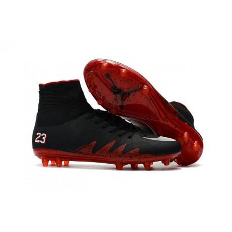 Nouveau Crampons Nike HyperVenom Phantom II FG Football Jordan Noir Rouge Blanc