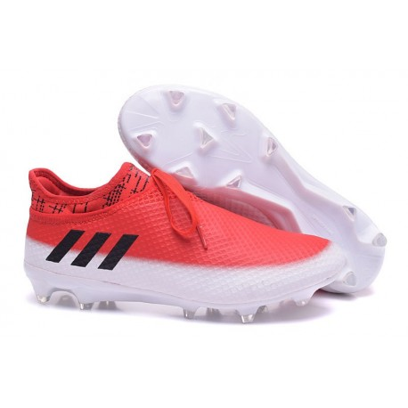 Chaussures de football Adidas Messi 16+ Pureagility FG/AG Homme Blanc Noir Rouge