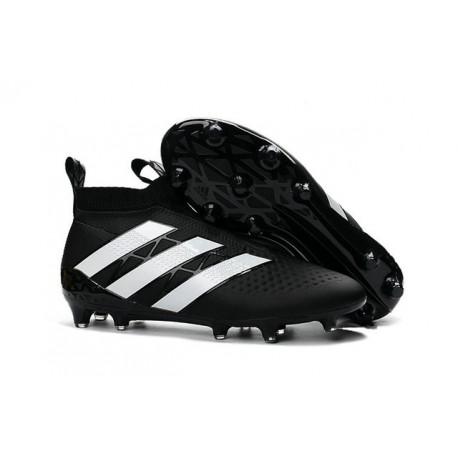 Nouveau Chaussures de Football Adidas Ace16+ Purecontrol FG/AG Noir Blanc