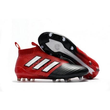 Nouveau Chaussures de Football Adidas Ace17+ Purecontrol FG/AG Blanc Rouge Noir