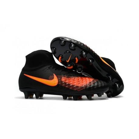 Chaussures de football pour Hommes Nike Magista Obra II FG Noir Orange