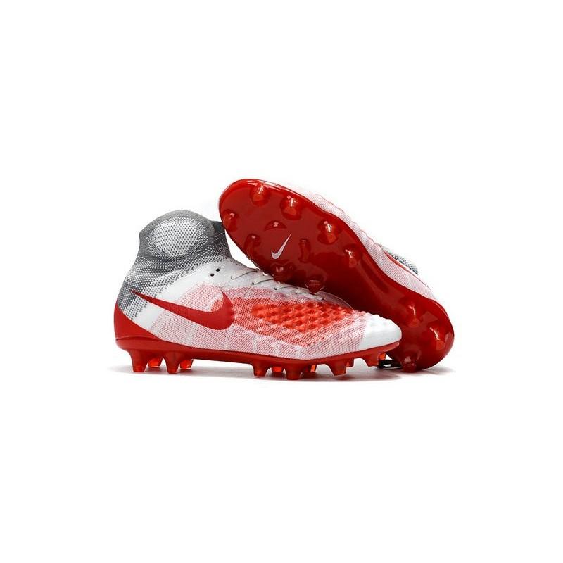 brand new 80b78 0ab1f Chaussures de football pour Hommes Nike Magista Obra II FG Blanc Rouge