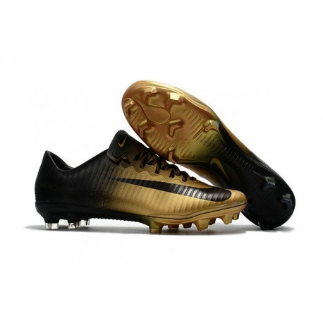 Chaussures de Football 2017 - Nike Mercurial Vapor 11 FG Noir Or
