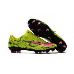 Nike Mercurial Vapor XI FG ACC Crampon Homme Jaune Rose
