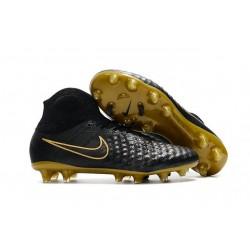 Chaussures de football pour Hommes Nike Magista Obra II FG Noir Or