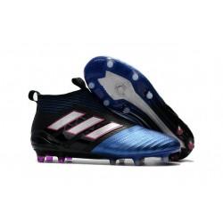 Adidas Ace17+ Purecontrol FG Chaussures de Football Bleu Noir Blanc