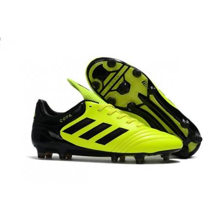 Crampons de Foot adidas Copa 17.1 FG Cuir Jaune Noir