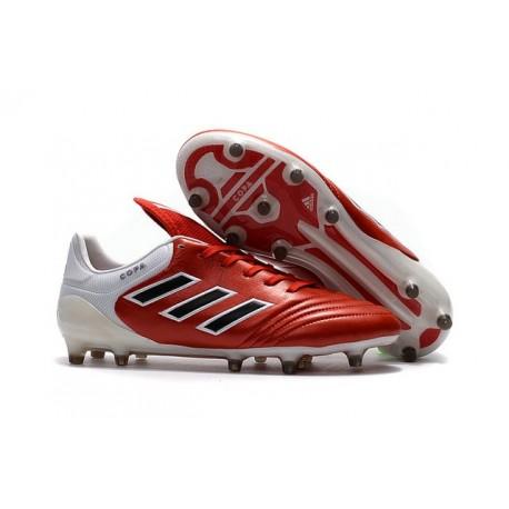 Crampons de Foot adidas Copa 17.1 FG Cuir Rouge Noir