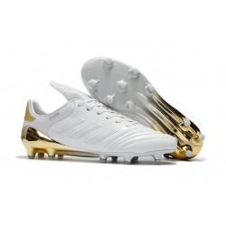 Crampons de Foot adidas Copa 17.1 FG Cuir Blanc Or