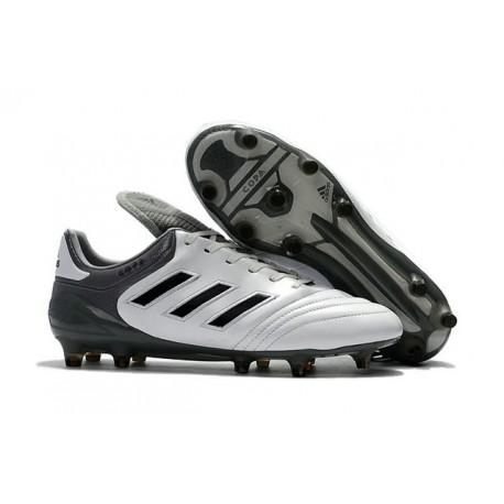Crampons de Foot adidas Copa 17.1 FG Cuir Blanc Gris