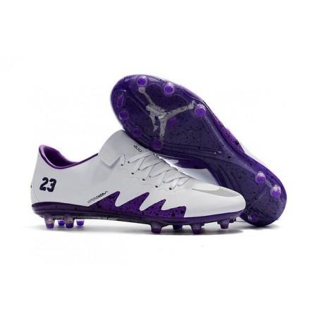 Nouveau 2017 Crampons Nike Hypervenom Phinish II FG Blanc Violet