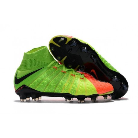 Nike Chaussures De Football Hypervenom Phantom 3 Dynamic Fit Fg Vert Orange Noir