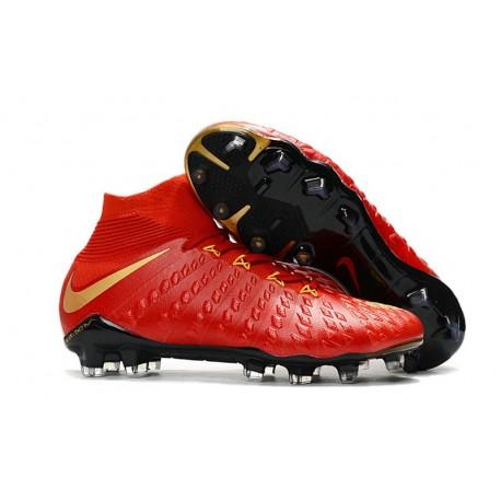Nike Chaussures De Football Hypervenom Phantom 3 Dynamic Fit Fg - Rouge Or